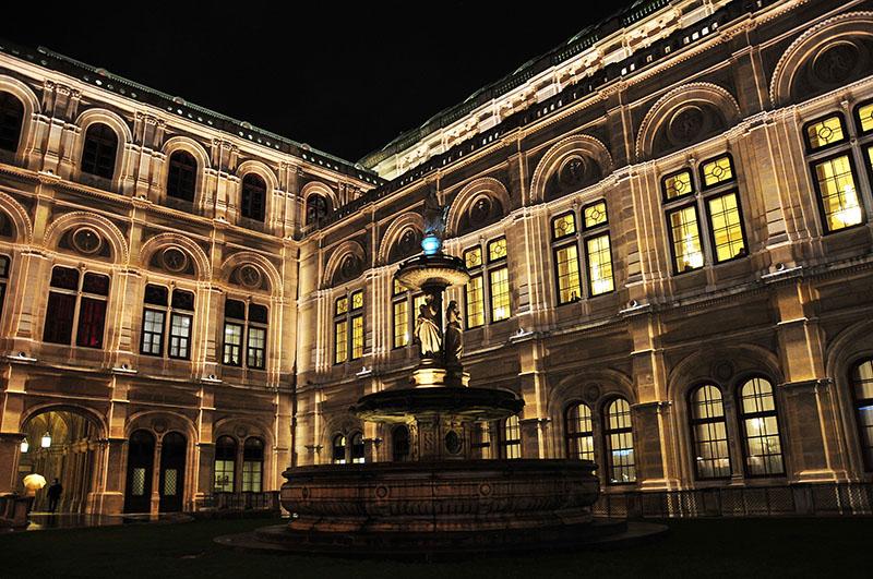opéra de vienne, de nuit